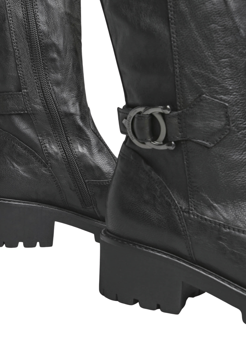 Nero Giardini Leather Calf Length Black Boots