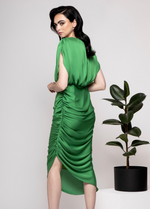 Caroline Kilkenny Lilly Green Cocktail Dress - Ribbon Rouge Boutiques