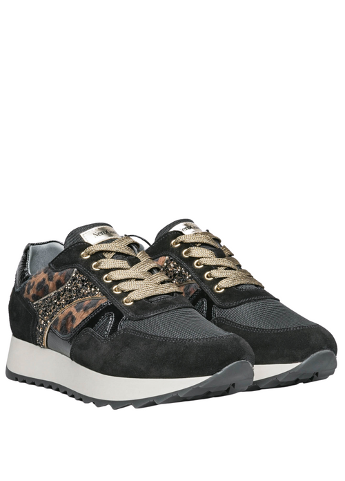 Nero Giardini Animal Patent Suede Leather Trainers - Ribbon Rouge Boutiques