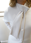 Estel Scarf Collar Detail Dress Coat - Ribbon Rouge Boutiques
