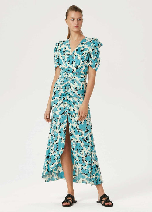 Exquise-Blue-Floral-Print-Puff-Sleeve-Long-Occasion-Dress