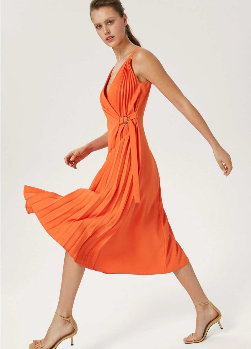 Exquise-Elbie-Womens-Long-Flowy-Occasion-Dress-With-Wrap-Style-Pleats
