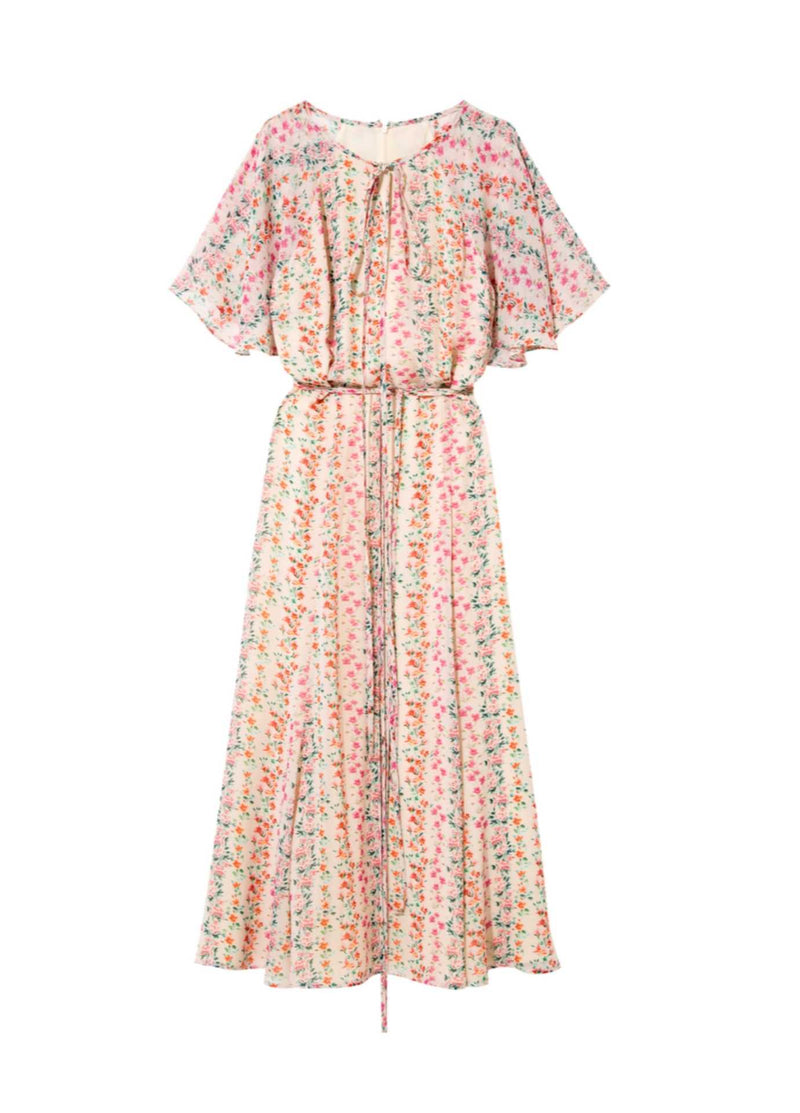 Exquise-SS21-1218058-Floral-Print-Womens-Long-Summer-Dress-Ribbon-Rouge-Online