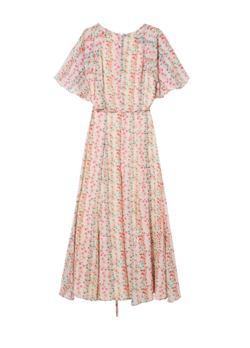 Exquise-SS21-1218058-Floral-Print-Womens-Long-Summer-Dress-With-Short-Sleeves-From-The-Back-Ribbon-Rouge-Online