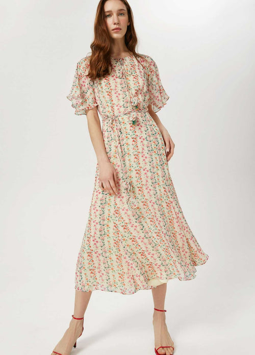 Exquise-SS21-1218058-Womens-Floral-Print-Long-Dress-With-Short-Sleeves-Ribbon-Rouge-Ireland