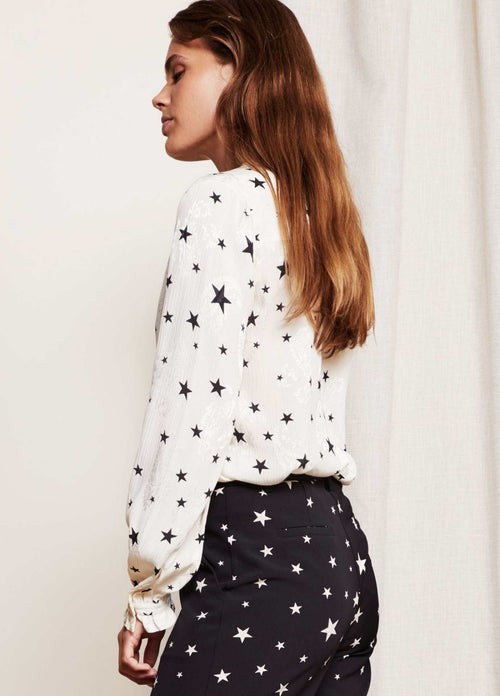 Fabienne-Chapot-Garden-Cato-Womens-White-Star-Blouse-From-Side