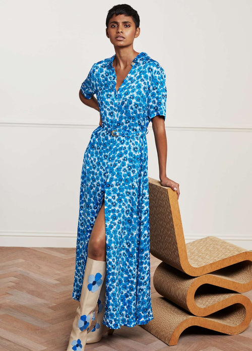 Fabienne-Chapot-Mia-Blue-Pansy-Ladies-Maxi-Dress-With-Belt-Ribbon-Rouge-Ireland