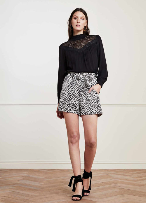 Fabienne-Chapot-Olivia-Isa-High-Waisted-Womens-Shorts-In-Heartlines-Print