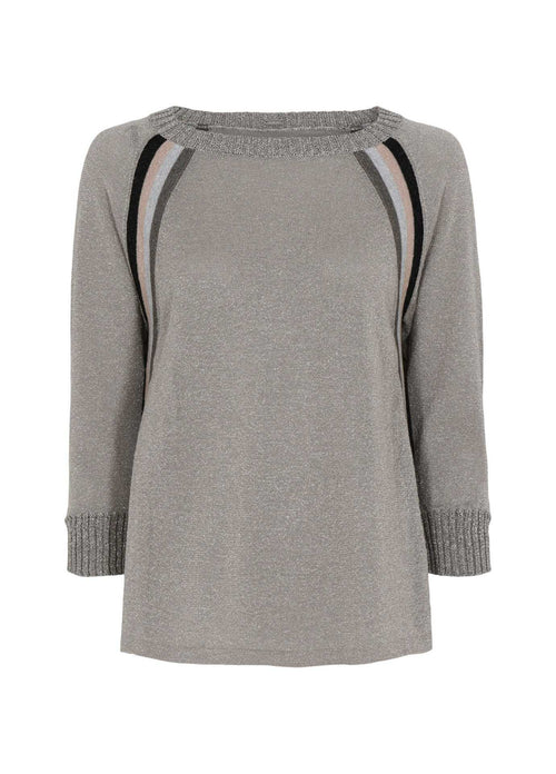 Gustav-40417-Inara-Womens-Grey-Knitted-Jumper-With-Gold-Lurex
