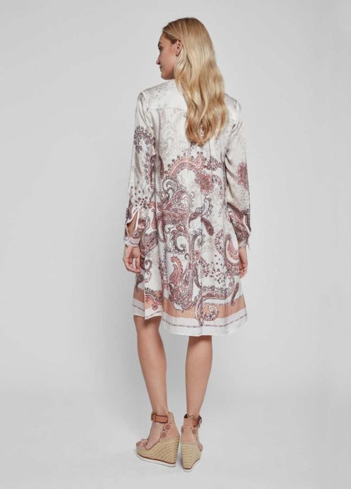 Gustav-40520-Costa-Cream-Paisley-Print-Womens-Shirt-Dress-From-Back