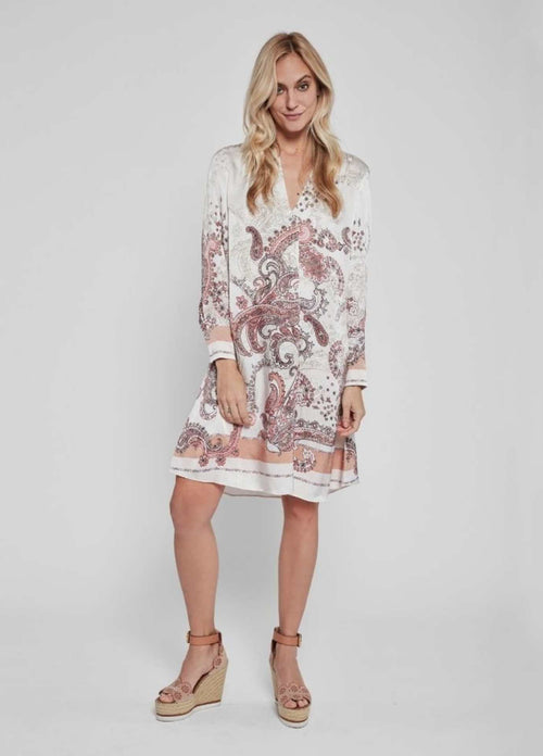 Gustav-40520-Costa-Cream-Paisley-Print-Womens-Shirt-Dress