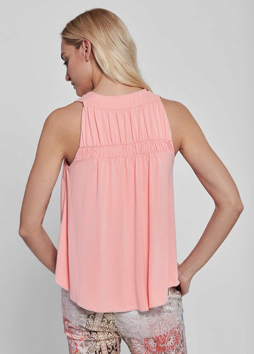Gustav-40616-Fina-Peach-Pink-Womens-Halter-Top-From-The-Back