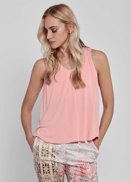 Gustav-40616-Fina-Soft-Peach-Pink-Womens-Halter-Loose-Fit-Top