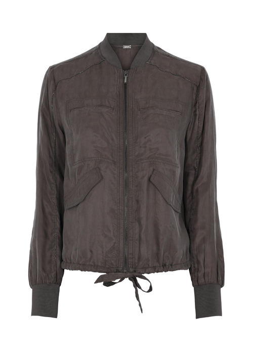Gustav-Jung-Ladies-Zip-Shirt-40609-In-Brown-Dust-Ribbon-Rouge-Ireland
