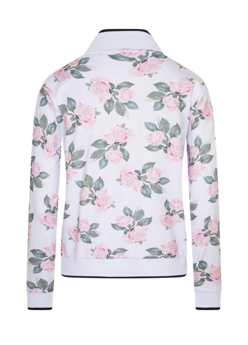 HV-Polo-0401103313-00390-SS21-Nora-White-Pink-Floral-Print-Bomber-Style-Zip-Cardigan-From-The-Back-Ribbon-Rouge