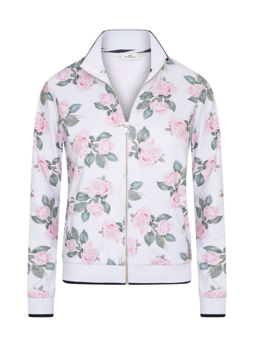 HV-Polo-0401103313-00390-SS21-Nora-White-Pink-Floral-Print-Bomber-Style-Zip-Cardigan-Ribbon-Rouge-Ireland