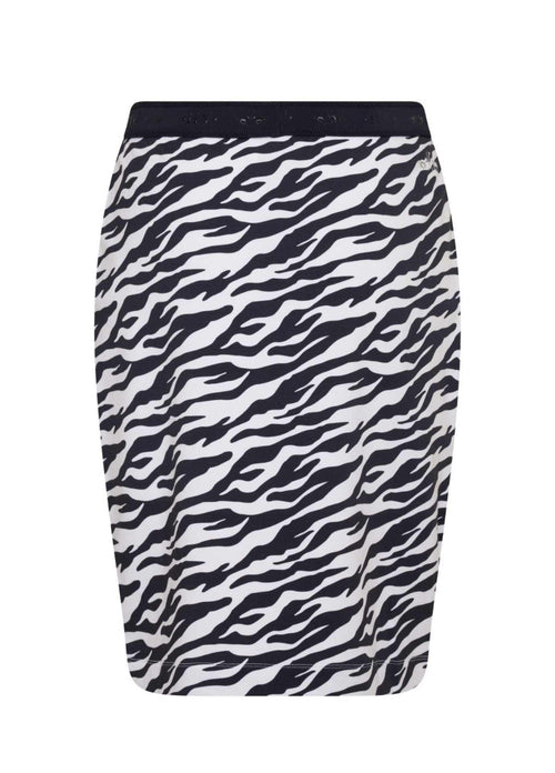 HV-Polo-0407103301-5274-SS21-Anna-Navy-Zebra-Print-Sporty-Womens-Pencil-Skirt-From-Back-Ribbon-Rouge