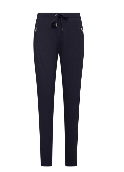 HV-Polo-SS21-Angela-Womens-Navy-Designer-Sweat-Pant-Casual-Trousers-Ribbon-Rouge-Ireland