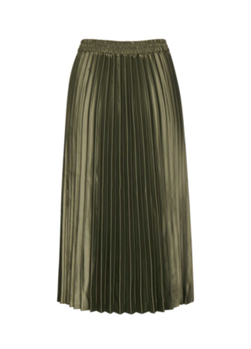 Inwear-Adhral-Womens-Pleated-Midi-Length-Skirt-In-Green-Ribbon-Rouge