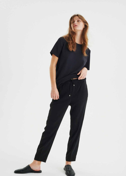 Inwear-Adial-Pull-On-Drawstring-Casual-Womens-Trousers-Ribbon-Rouge