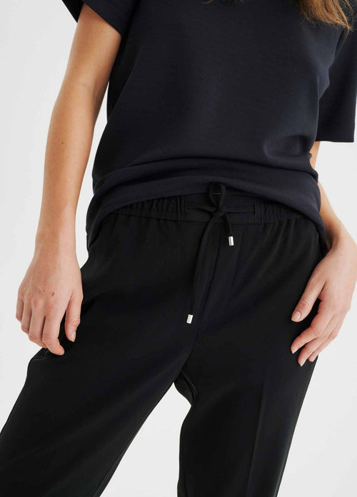 Inwear-Adial-Pull-On-Drawstring-Waist-Casual-Womens-Trousers-Ribbon-Rouge