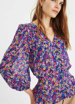 nwear-Florizzal-30105459-Purple-Floral-Print-Ladies-Chiffon-Summer-Top-With-Puff-Sleeves-Ribbon-Rouge-Ireland