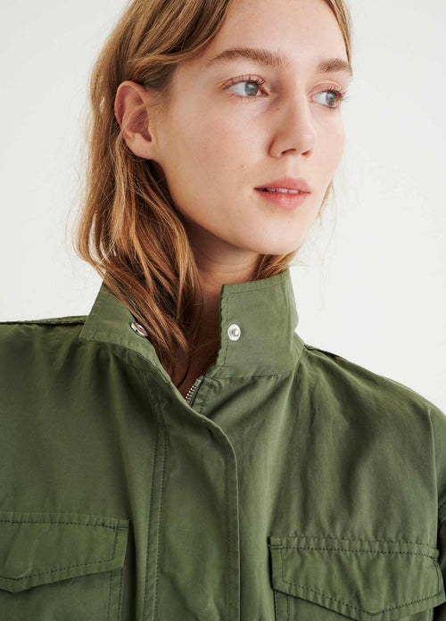 Inwear-YumalIW-Khaki-Green-Womens-Parka-Jacket-With-Utility-Pockets-ribbon-rouge-ireland