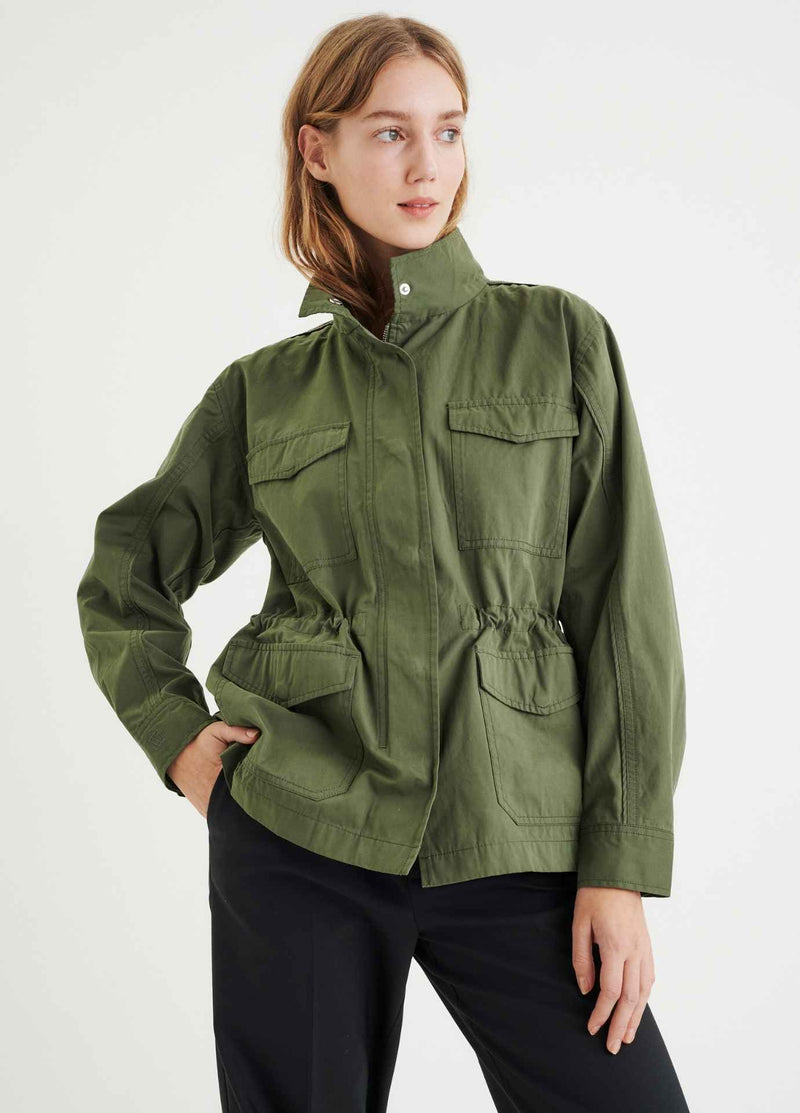 Inwear-YumalIW-Khaki-Green-Womens-Parka-Jacket-ribbon-rouge-ireland