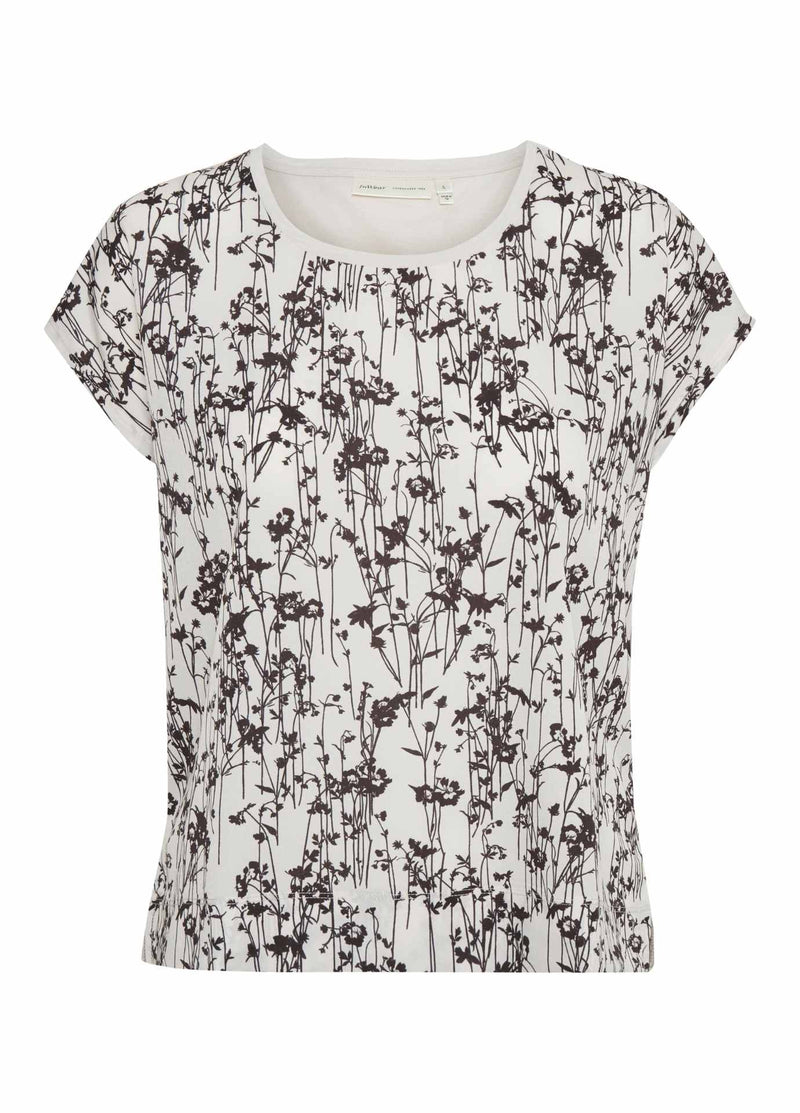 Inwear-Sicily-Black-And-White-Floral-Print-Womens-Short-Sleeve-T-Shirt-30103135-Ribbon-Rouge-Online
