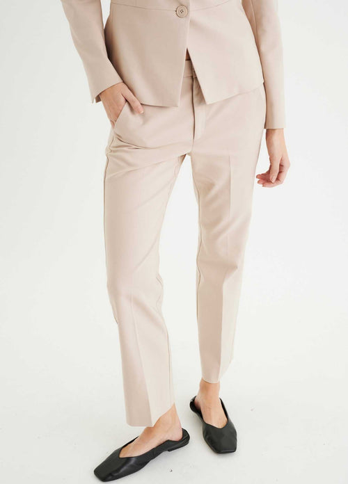Inwear-zellaIW-30104595-ladies-kick-flare-boot-cut-trousers-in-sandstone-with-front-seam-ribbon-rouge-Ireland