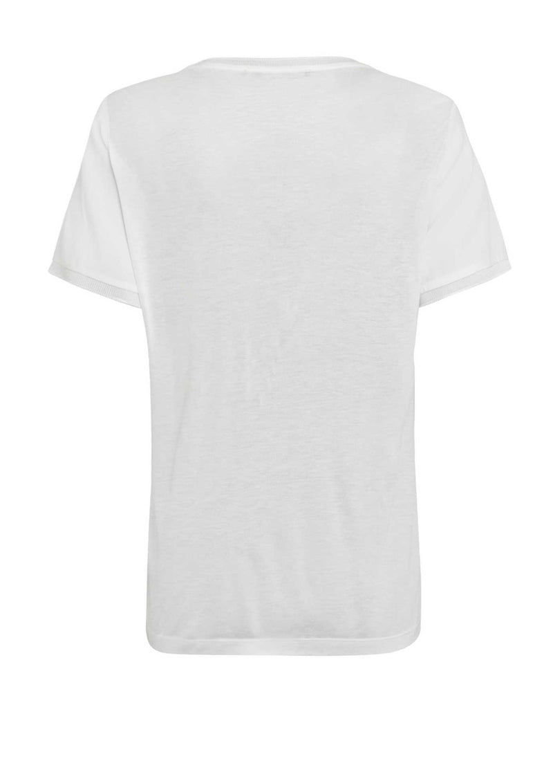 Marc-Aurel-70997000-Womens-White-Stripe-Sequin-Tshirt-From-The-Back