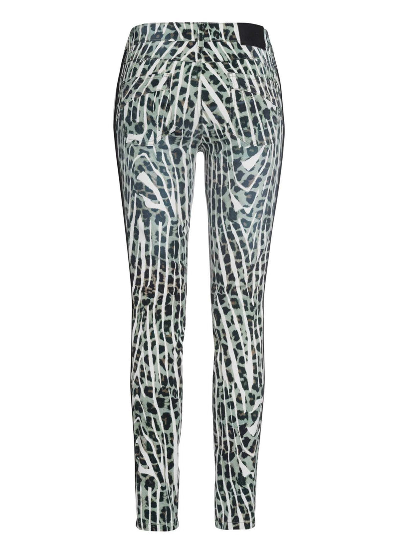 Marc-Aurel-Black-Salvia-Green-Womens-Jeans-With-Animal-Print-From-Back