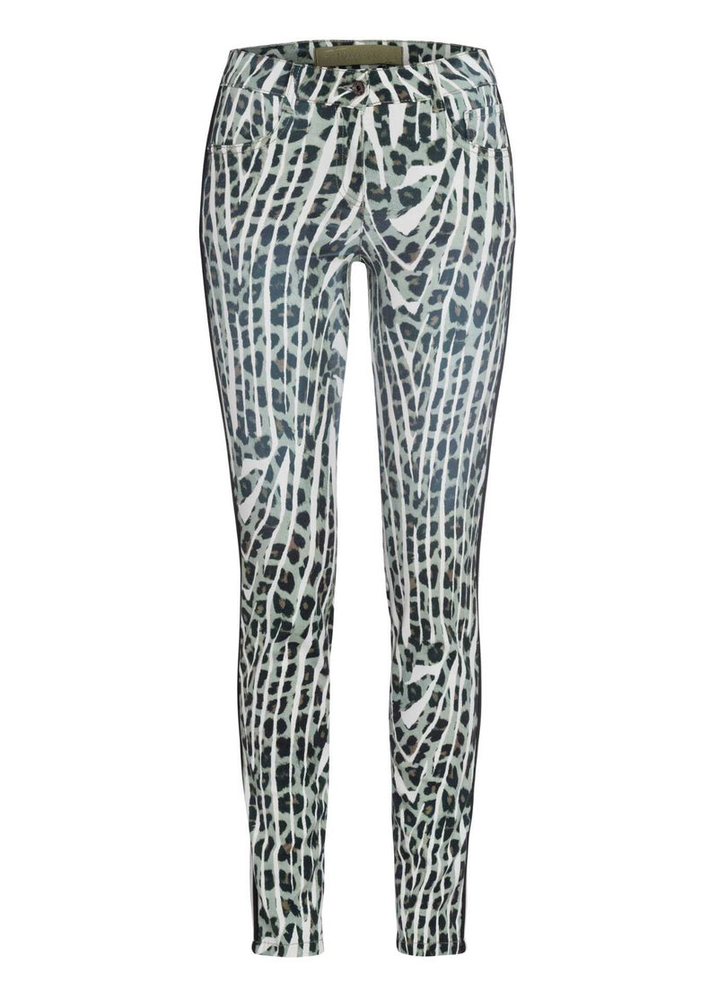 Marc-Aurel-Black-Salvia-Green-Womens-Jeans-With-Animal-Print