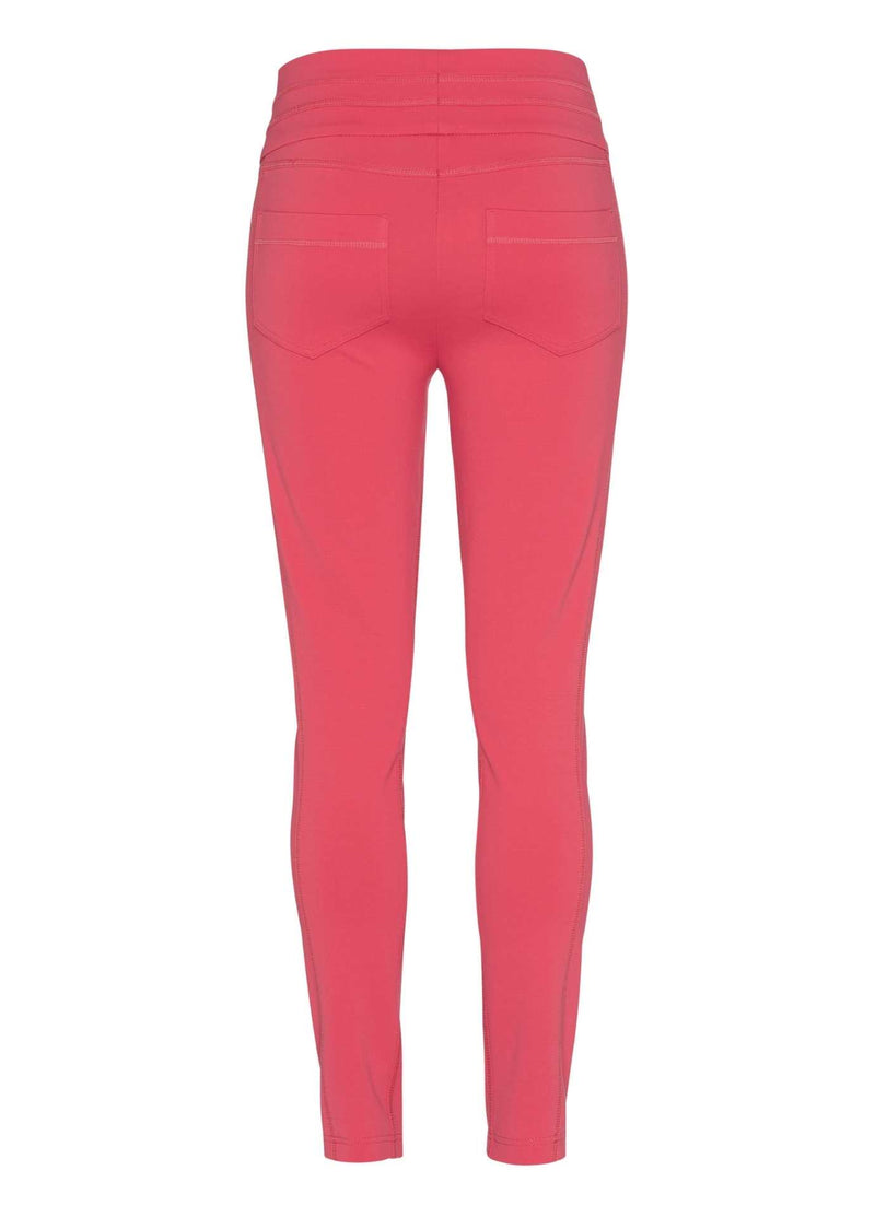 Marc-Aurel-Wild-Rosewood-Coral-Slim-Leg-Womens-Casual-Trousers-From-Back-Pockets