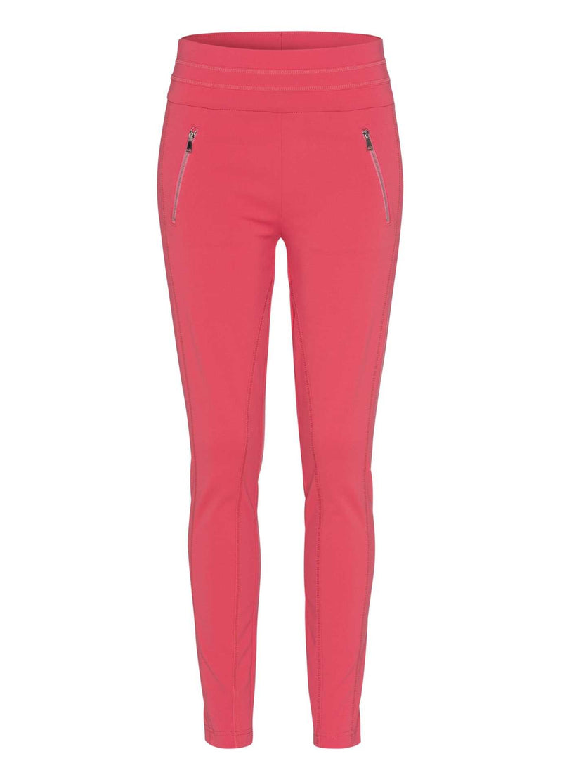Marc-Aurel-Wild-Rosewood-Coral-Slim-Leg-Womens-Casual-Trousers-With-Zip-Pockets