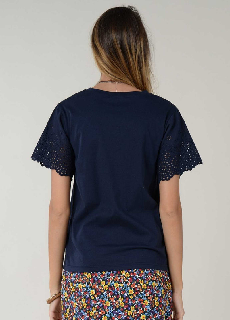 Molly-Bracken-E1384p21-Womens-Navy-Cotton-T-Shirt-From-The-Back