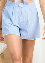Molly-Bracken-WomensLight-Blue-Denim-Pinstripe-Shorts-LA731E21-Ribbon-Rouge