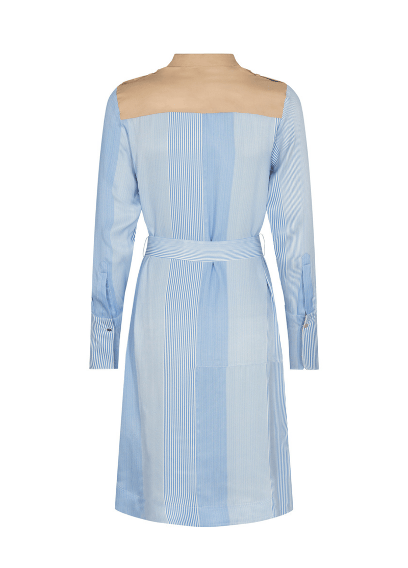 Mos-Mosh-138120-Mosmosh-Rory-Island-Blue-Stripe-Belted-Shirt-Dress-With-Tan-Cuffs-And-Belt-From-Back-Ribbon-Rouge
