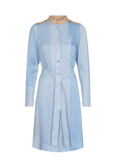 Mos-Mosh-138120-Mosmosh-Rory-Island-Blue-Stripe-Belted-Shirt-Dress-With-Tan-Cuffs-And-Belt-Ribbon-Rouge