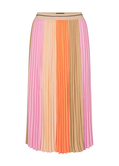 MosMosh-Plisse-138180-Colour-Block-Print-Pleated-Womens-Midi-Skirt-Ribbon-Rouge-Online