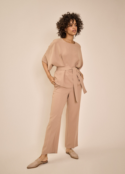 Mosmosh-SS21-Bai-Leia-Off-White-Womens-Trousers-With-Front-Seam-37930-Ribbon-Rouge-Ireland-Online