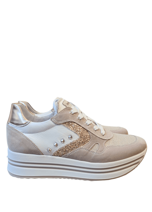 Nero-Giardini-115194D-Ladies-Rose-Gold-Leather-Wedge-Trainers-Ribbon-Rouge-Ireland