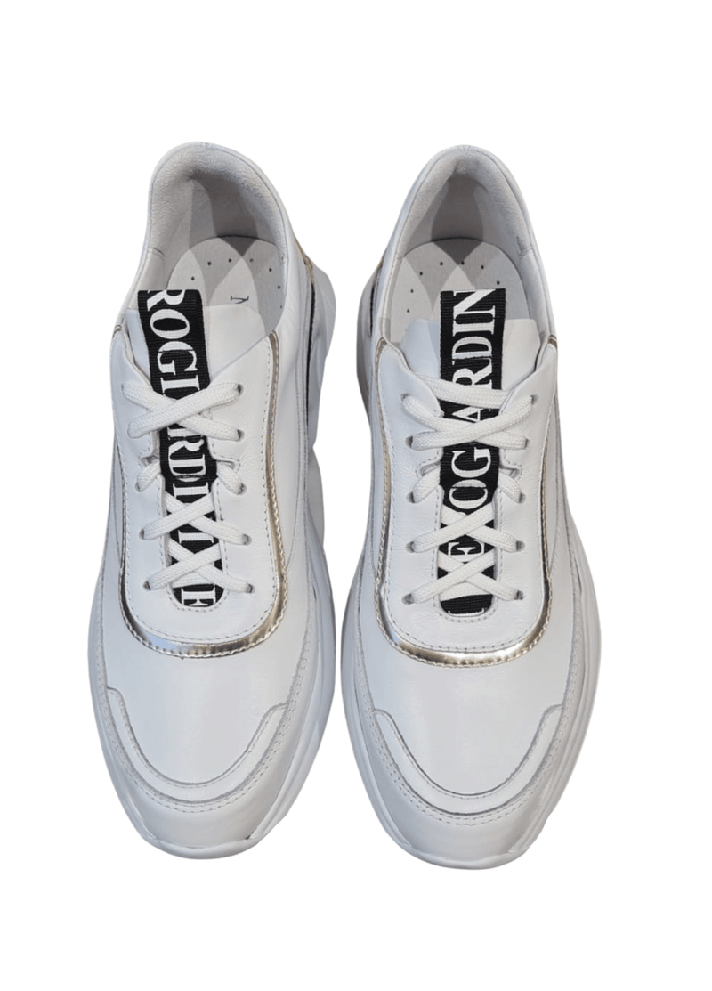 Nero-Giardini-115200D-Ladies-Chunky-Leather-Wedge-Trainers-White-Laces-Ribbon-Rouge-Online