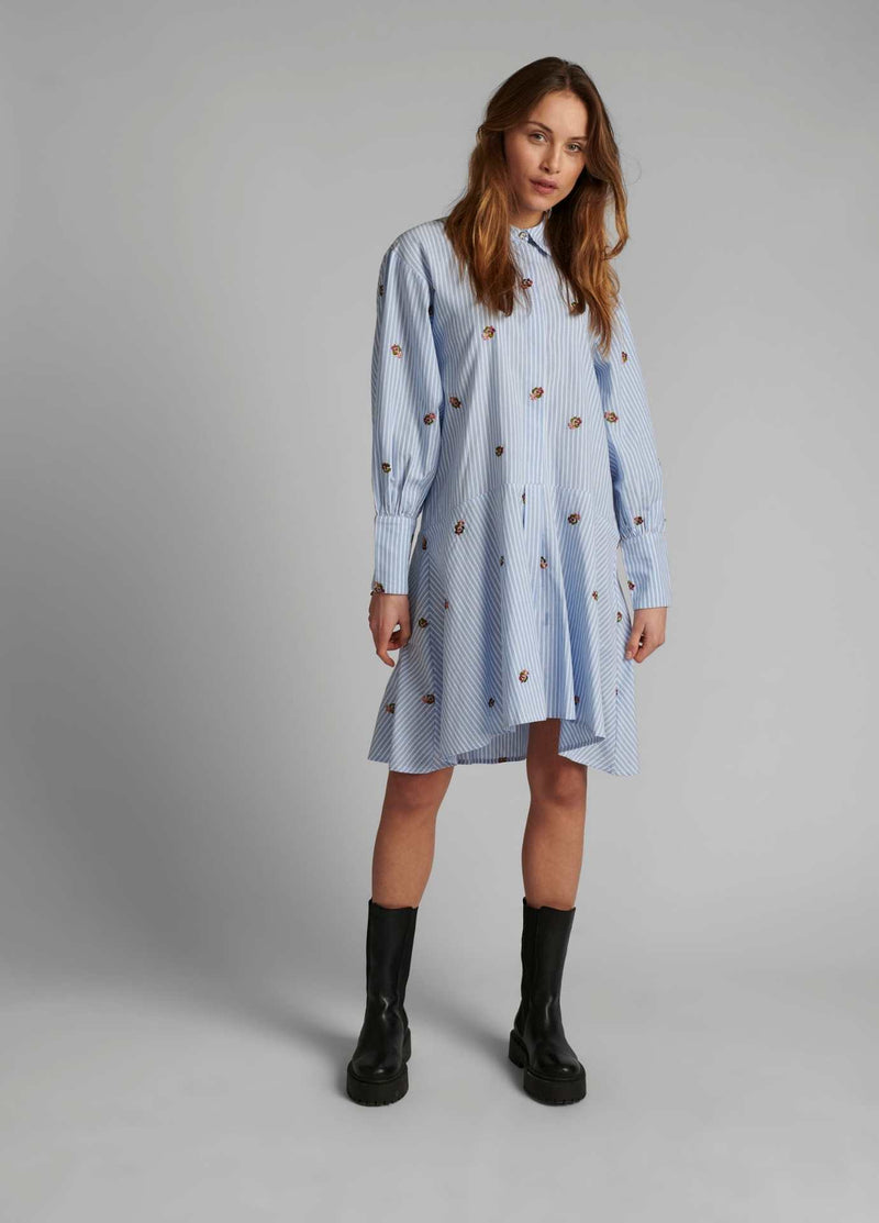Numph-700134-Blue-And-White-Stripe-Casual-Womens-Shirt-Dress-With-Long-Sleeves