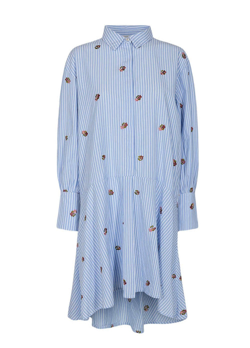 Numph-700134-Blue-And-White-Stripe-Relaxed-Fit-Womens-Shirt-Dress-Back