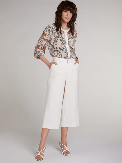 Oui-71906-White-Ladies-Cropped-3_4-Length-Wide-Leg-Trousers-Ribbon-Rouge-Online
