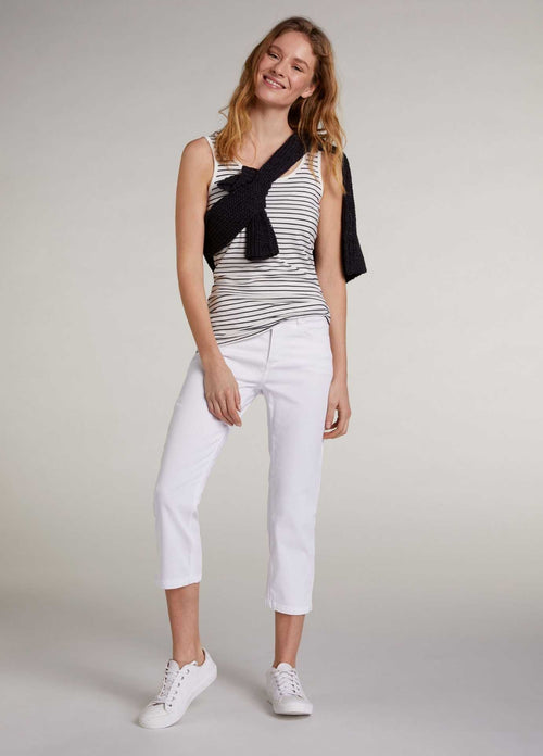 Oui-73364-Womens-Cropped-White-Jeans-