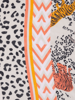 Oui-SS21-Oui-Soft-Leopard-_-Tiger-Orange-Print-Scarf-Close-Up-Of-Fabric-Ribbon-Rouge-Ireland