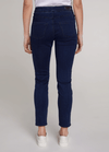 Oui-Slim-Leg-Ladies-Dark-Blue-Denim-Jeggings-71898-Back-RibbonRouge