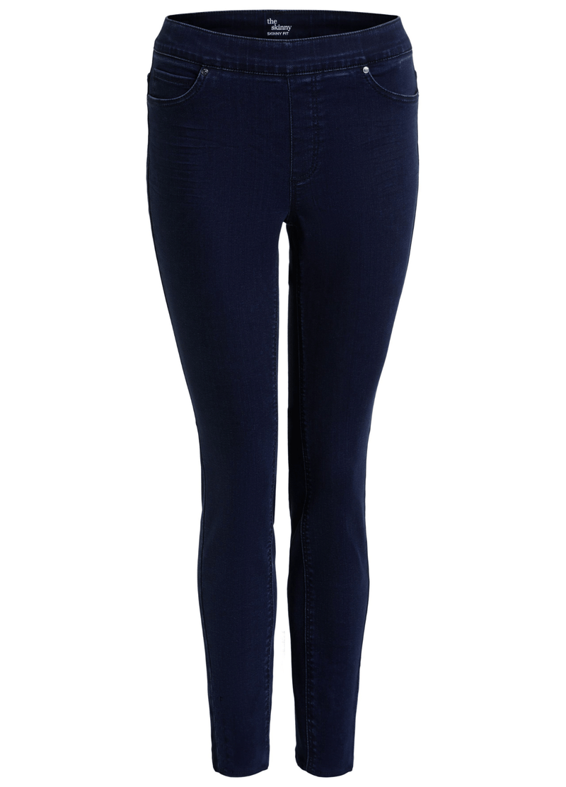 Oui-Slim-Leg-Ladies-Dark-Blue-Denim-Jeggings-71898-Online-Product-RibbonRouge